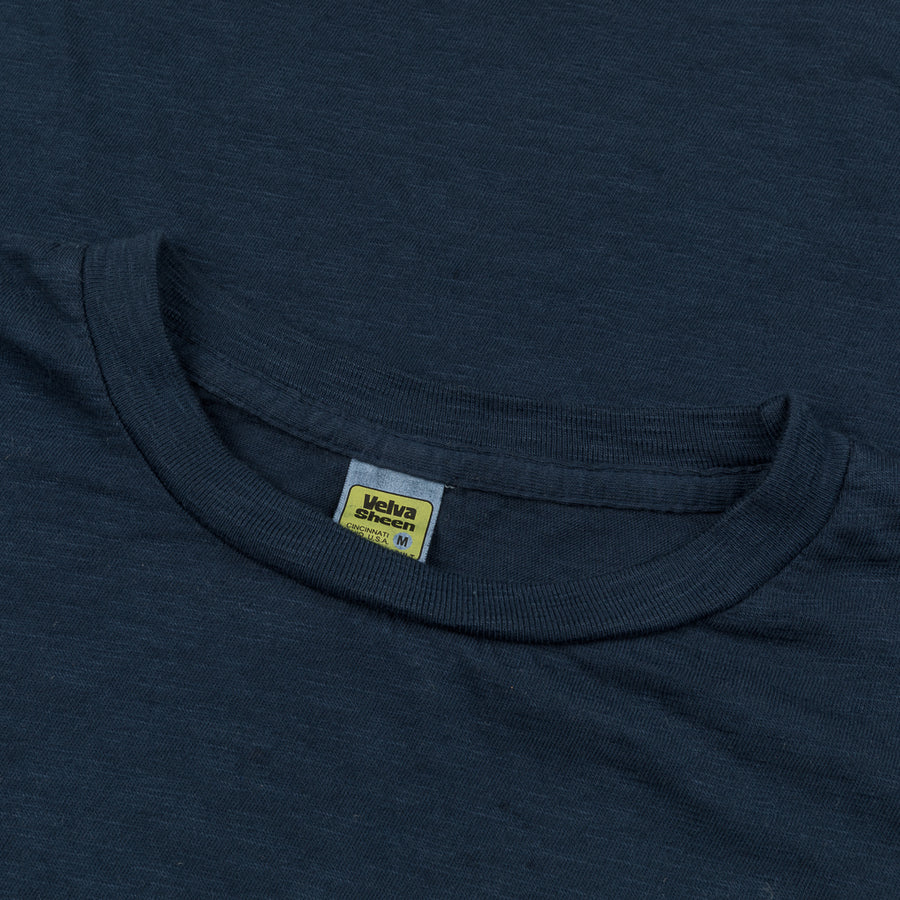 Velva Sheen Roll Tee in Navy