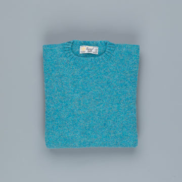 Laurence J. Smith  Super soft Seamless Crew Neck Pullover Azure