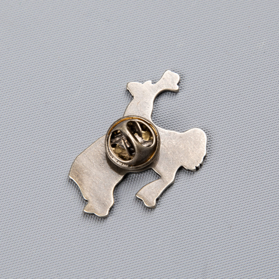 RRL Bucking Bronco pin enameled brass