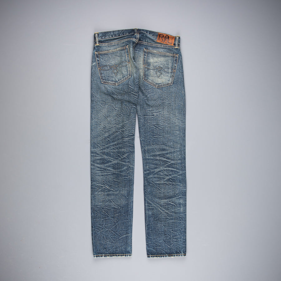 RRL Low Straight Selvedge Twill Odessa Wash