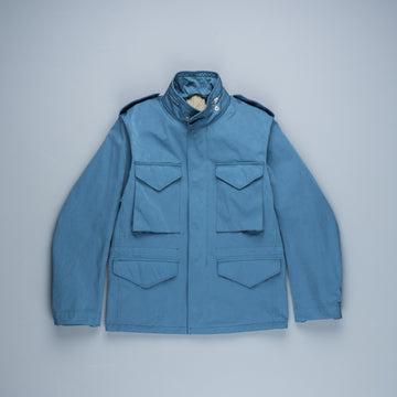 Ten C Short Field Jacket Denim Blu