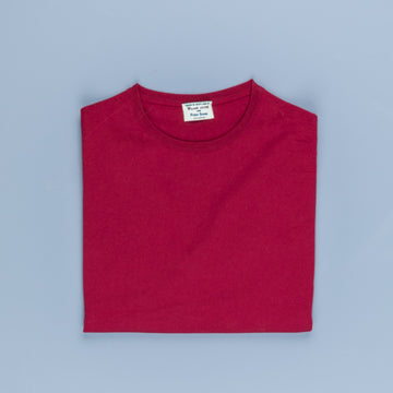 William Lockie x Frans Boone 30 gauge Loro Piana Merino's Crew Neck Chianti