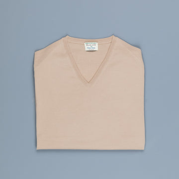William Lockie x Frans Boone 30 gauge Loro Piana Merino's V-Neck Sandstorm
