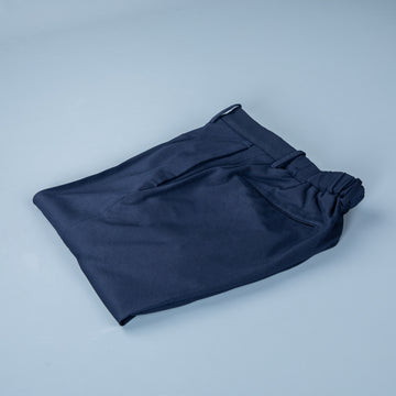 Incotex Model 84 Viscose Jersey Pants Navy Blu