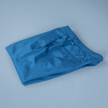 Incotex Model 64 Popelino Drawstring Pants Blu Medio