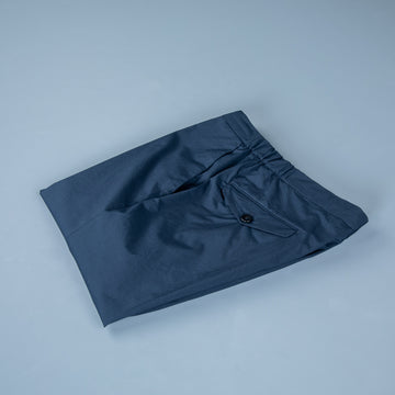 Incotex Model 64 Popelino Drawstring Pants Blu Scuro