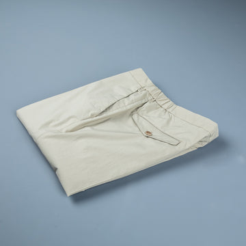 Incotex Model 64 Popelino Drawstring Pants Beige Chiaro