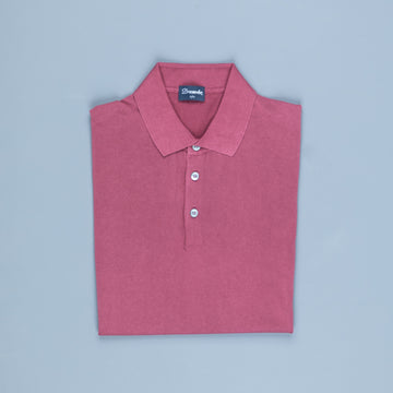 Drumohr Crepe Cotton Polo Brick