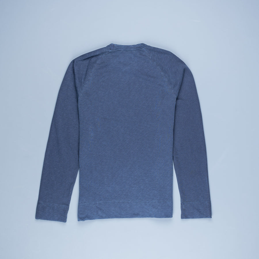 James Perse Vintage Fleece Raglan Pullover Deep pigment
