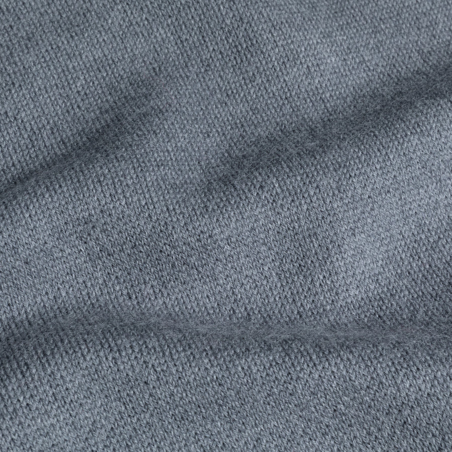 William Lockie Birdseye Solid Merino Wool Polo Grey