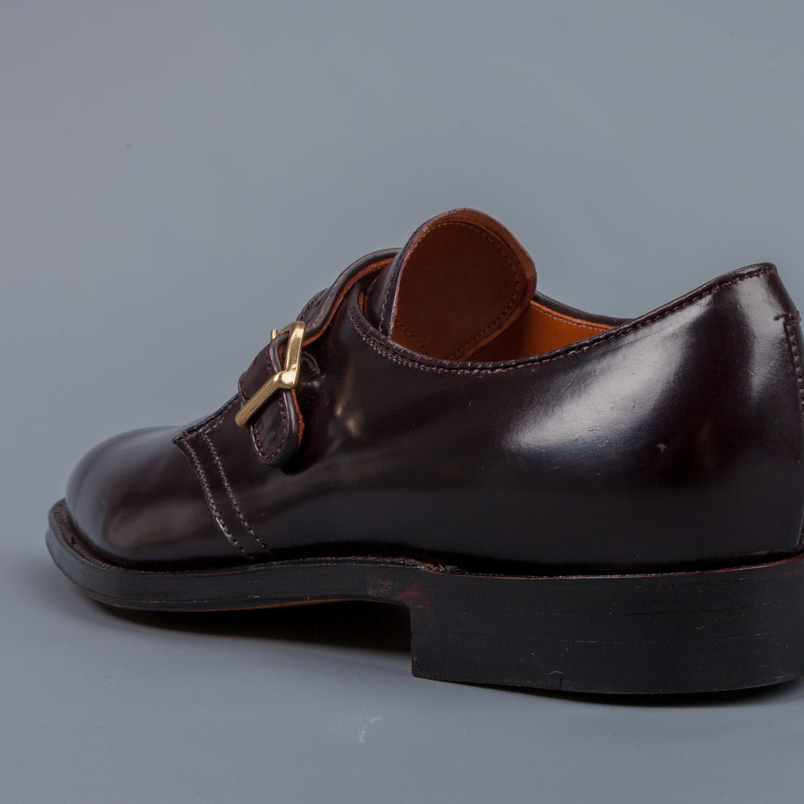 Alden Plaza last single monkstrap #8 Cordovan