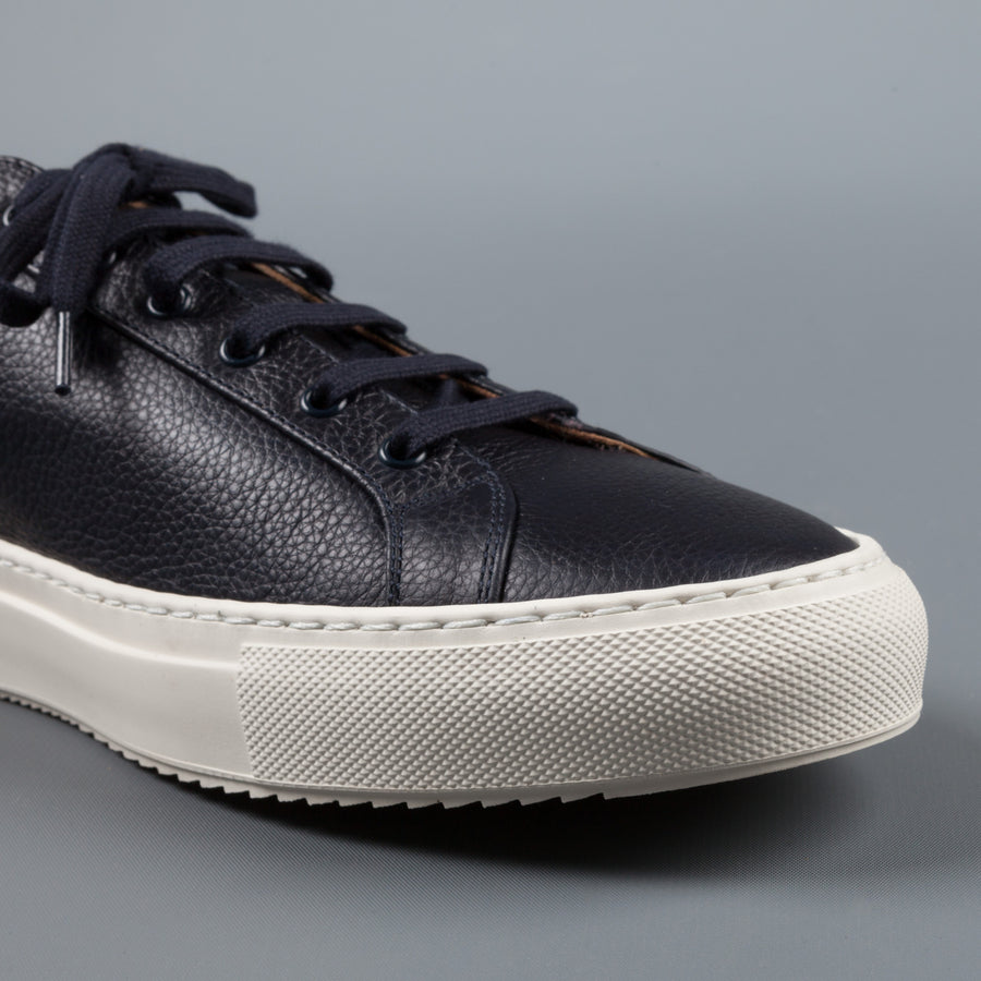 Common Projects Achilles Premium Low Navy Sawtooth sole