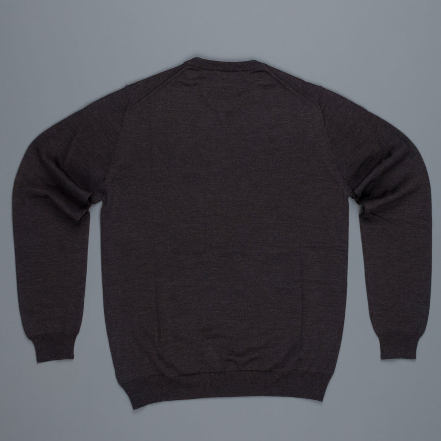 Zanone crew neck Merino wool Grey Antracite