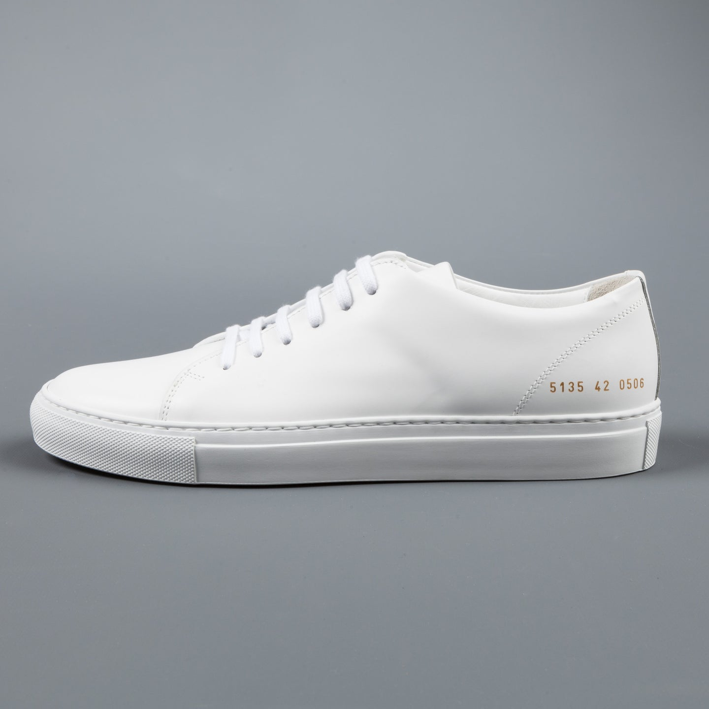 Common Projects New Court in boxed Leather White