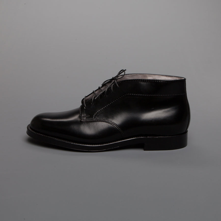 Re-stocked!Alden x Frans Boone 6 eyes chukka in black cordovan