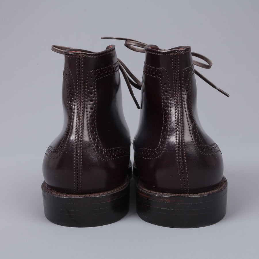 Re-stocked sizes! Alden #8 Cordovan straight tip medaillon toe boot