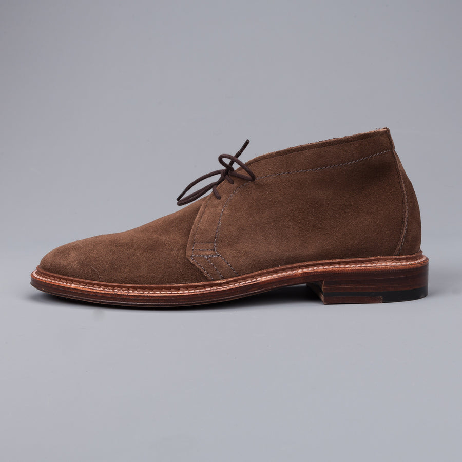 Alden chukka in unlined dark brown suede