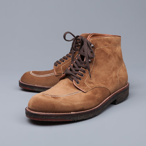 Alden x Frans Boone snuff suede indy boot on crepe sole