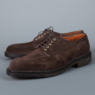 Alden dover pattern dark brown suede NST blutcher