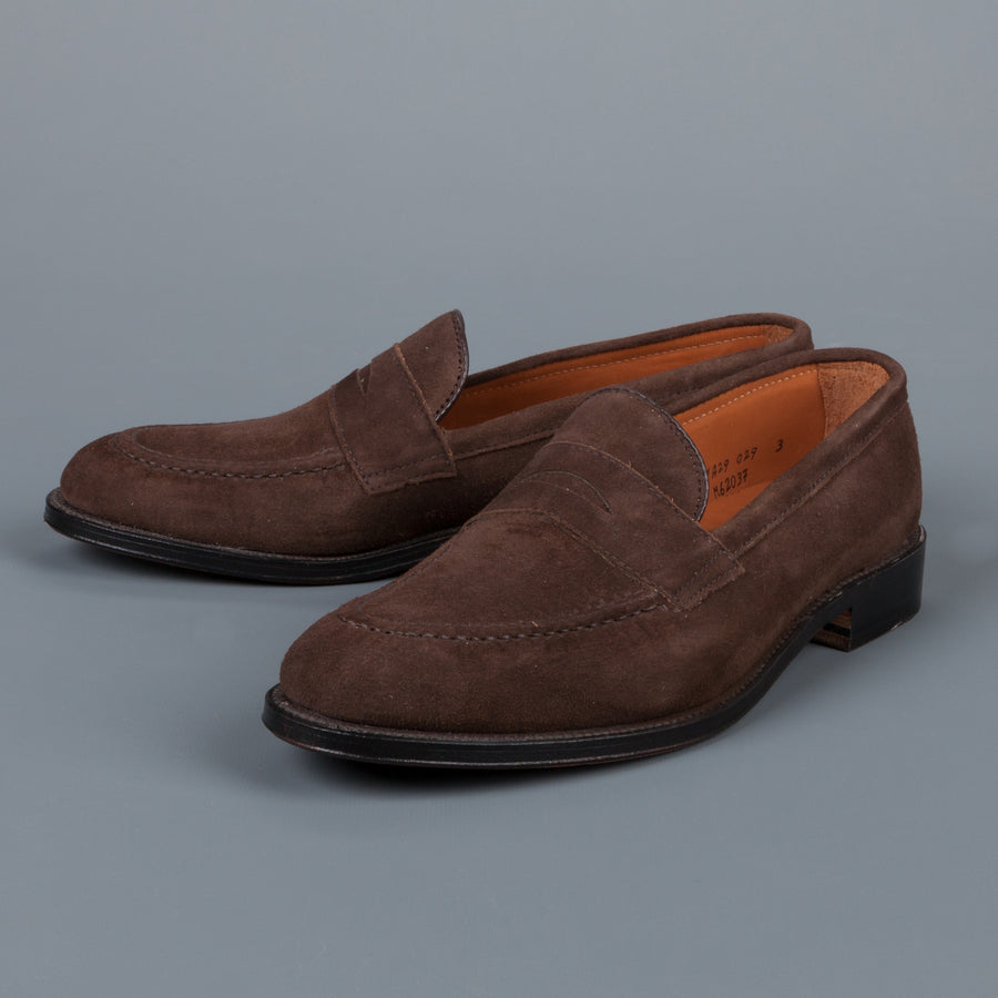 Alden Mocha kid suede loafer on flex sole
