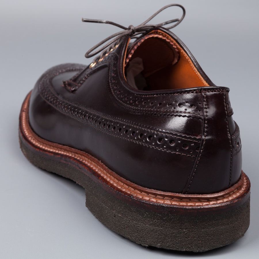 Alden color #8 long wing blucher on Crepe
