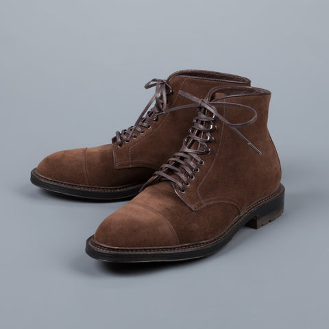 Alden Humus suede Parajumper boots on commando sole