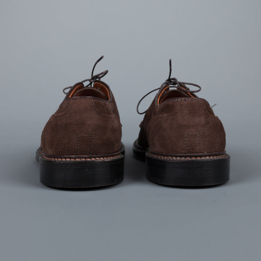 Alden x Frans Boone captoe on flex sole in mocha kid suede