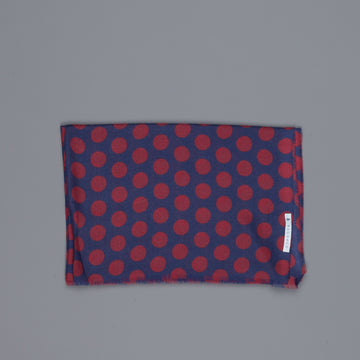 Alex Begg Wispy woven stole cashmere Printed Dixie in Blue/Red