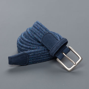 Anderson's intrecciato stretch belt donegal Indigo