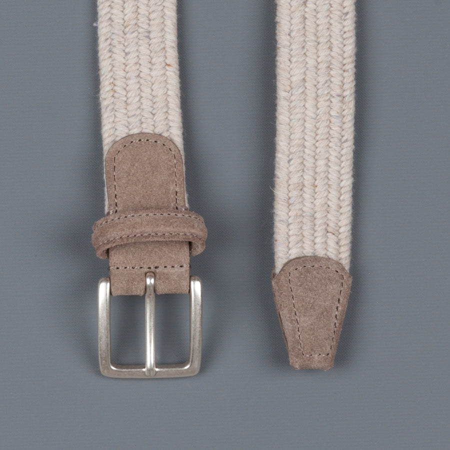 Anderson's intrecciato stretch belt donegal tan