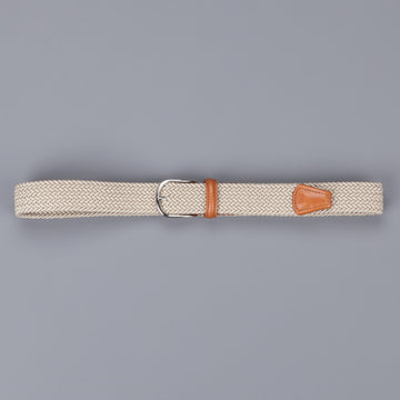 Anderson's intrecciato stretch belt Tan