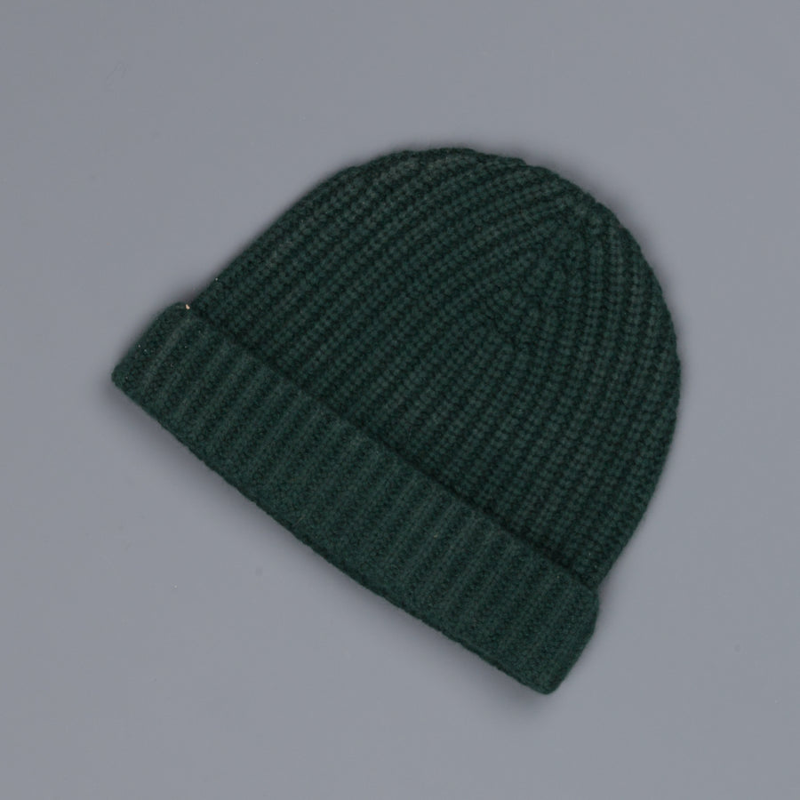 Aspesi Ribbed Cashmere Hat Bottle Green