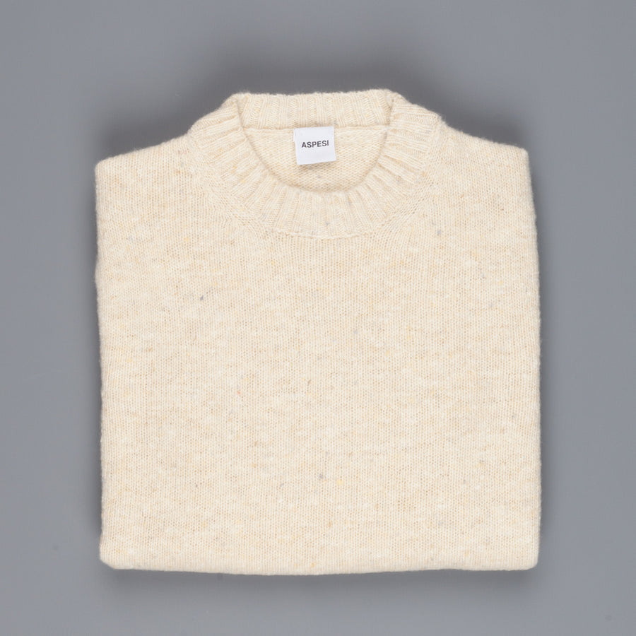 Aspesi Donegal Sweater Crew Model M183 neck Off White