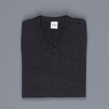 Aspesi Cashmere V Neck sweater Grigio Scuro