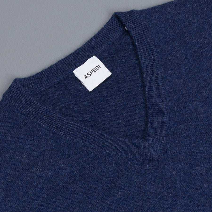 Aspesi Cashmere V Neck sweater Bluette