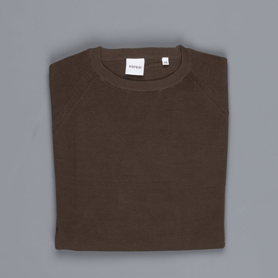 Aspesi Ribbed Cotton Sweater Militare
