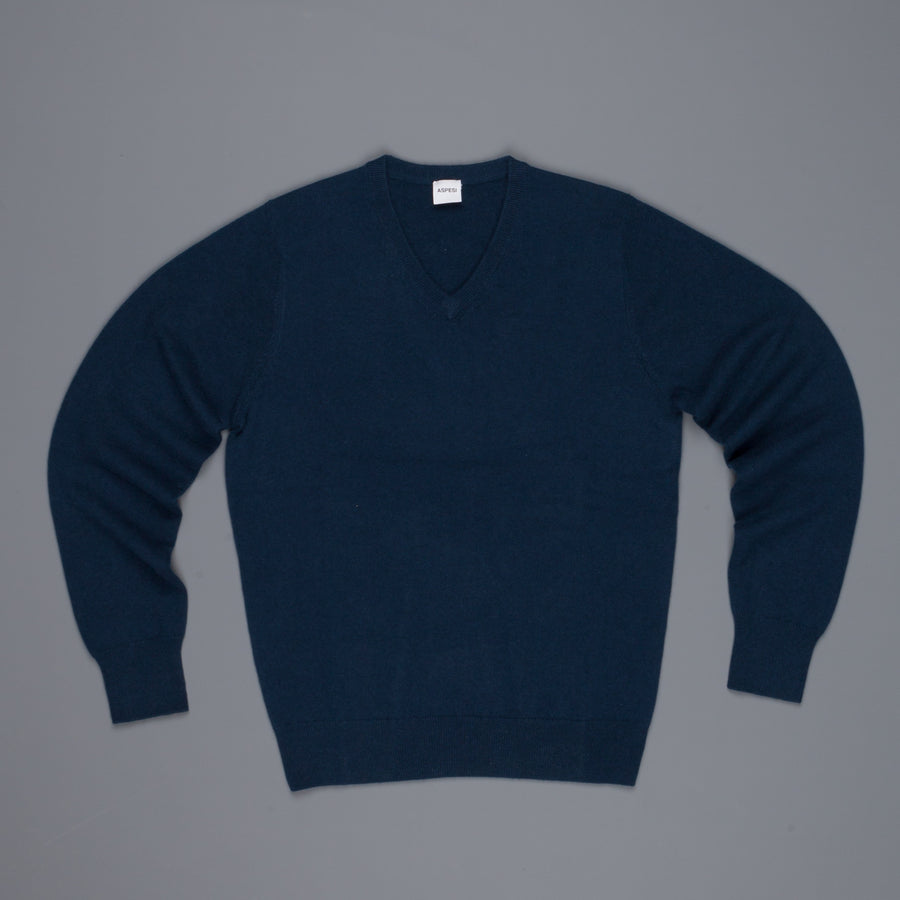 Aspesi Cashmere V Neck sweater Blu