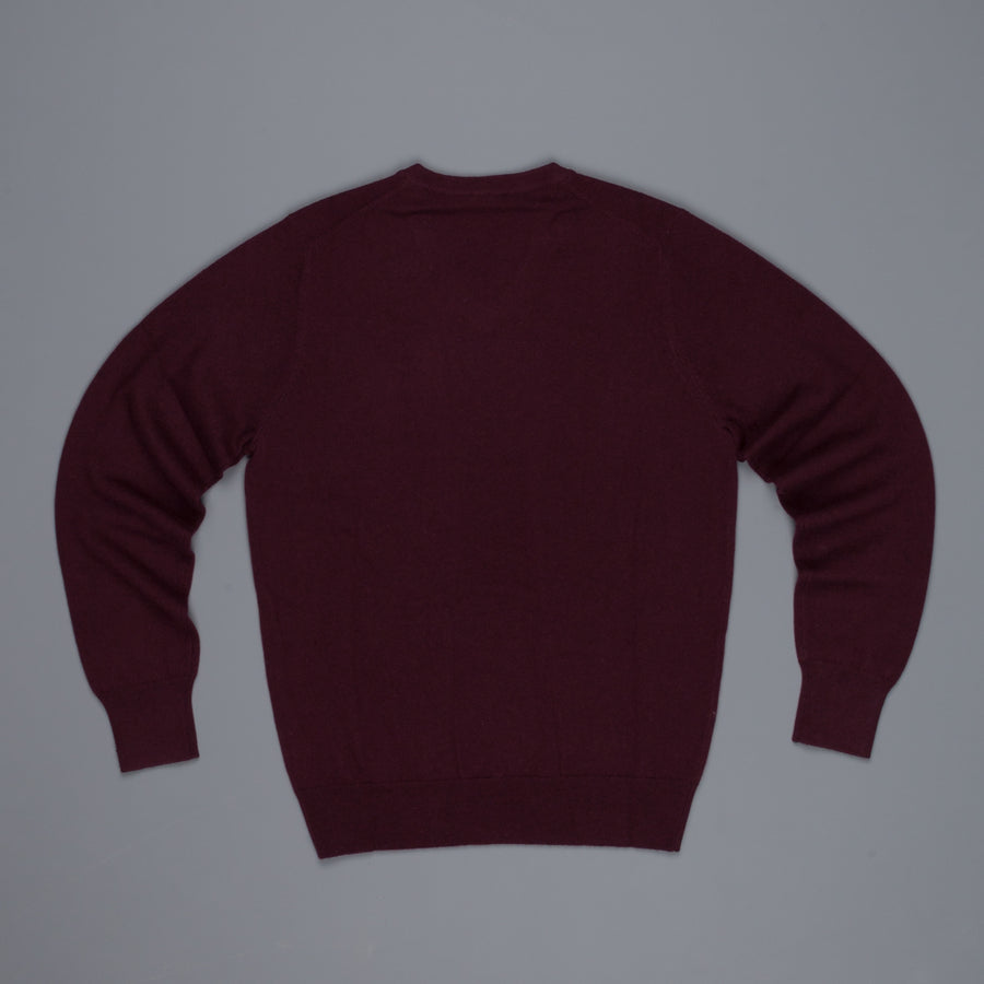 Aspesi Cashmere V Neck sweater Burgundy
