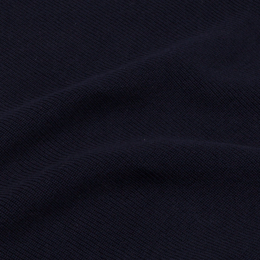 Aspesi Ribbed Cotton Sweater Blue Navy