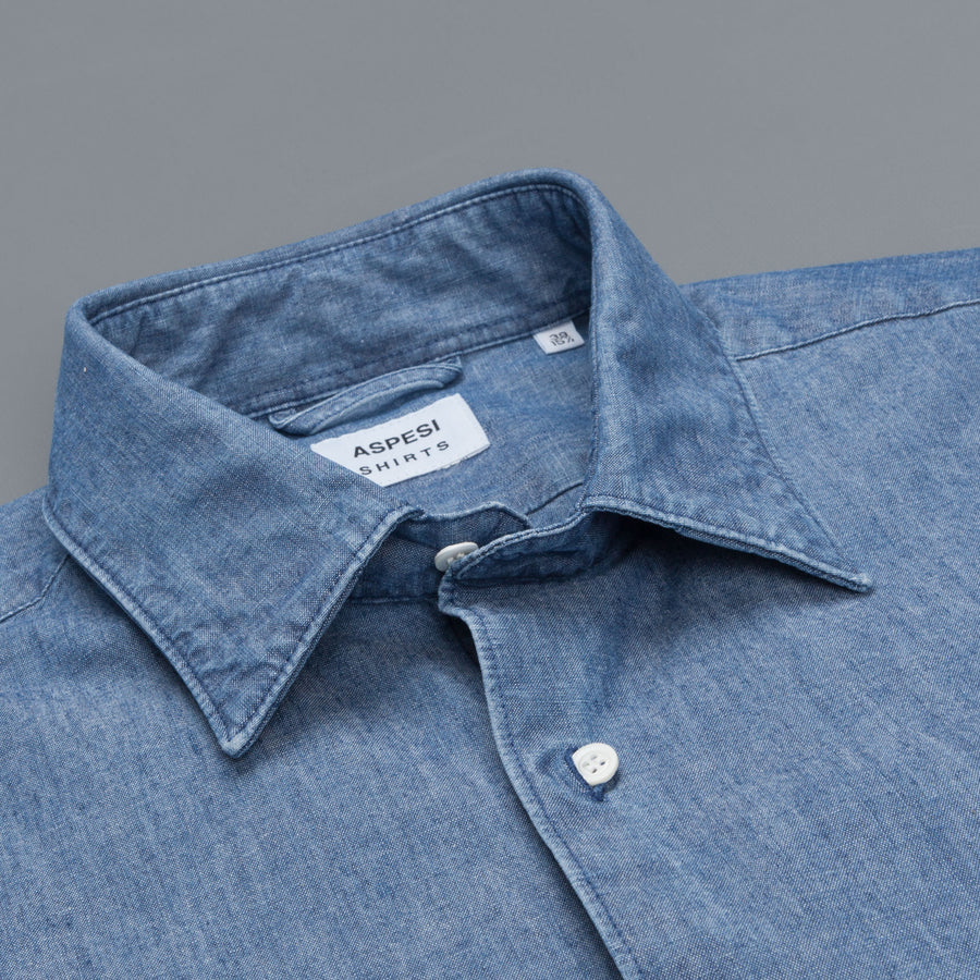 Aspesi denim shirt mid blue