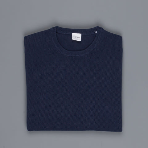 Aspesi Sweater Crew Neck Model M203 Royal Blu