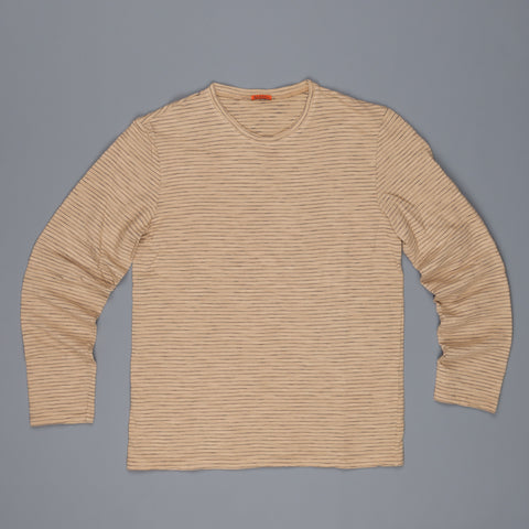 Barena Luigi Sweater Khaki Navy Stripe