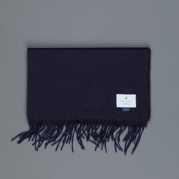 Alex Begg Arran scarf 100% cashmere Navy Charcoal