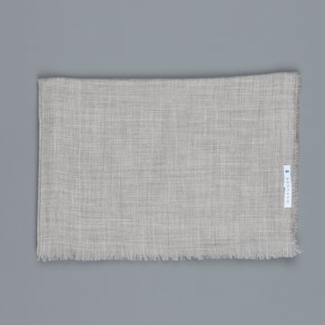 Alex Begg Wispy woven stole cashmere  Mid Grey