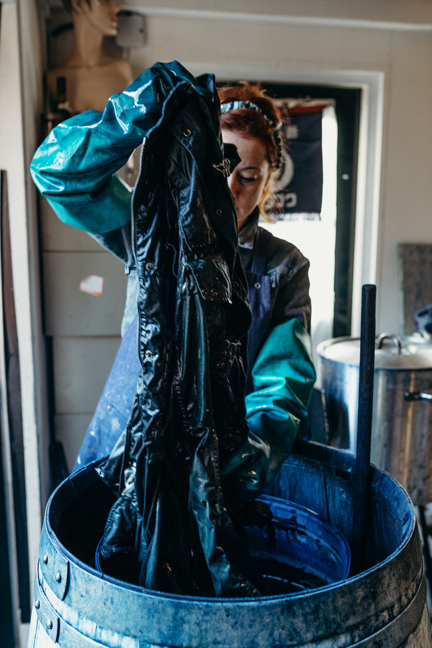 Exclusive Blueprint Amsterdam Indigo over dyed Aspesi Toronto jacket