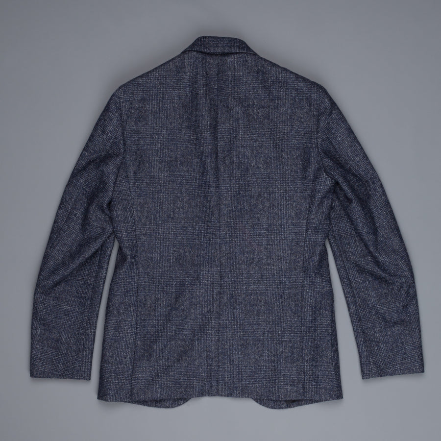 Caruso Aida jacket Prince of Wales in Alpaca blu