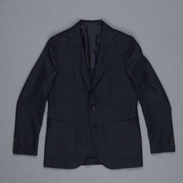 Caruso Aida Jacket Timeless Collection Zealander wool hopsack navy