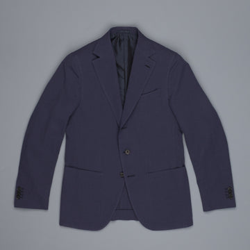 Caruso Dark Summer Blue seersucker Aida jacket
