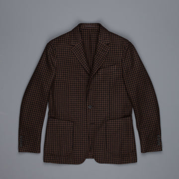 Caruso Butterfly GZE jacket shepherds check brown