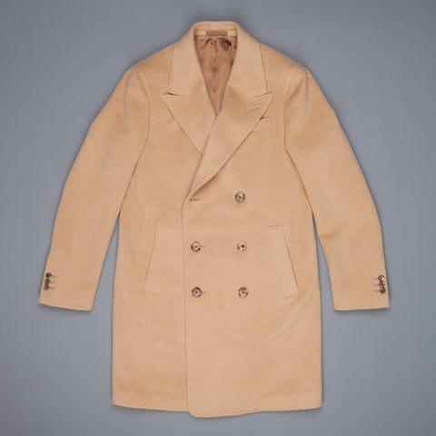 Caruso Butterfly DB Overcoat Camelhair